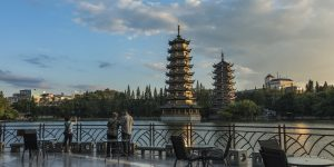 sun-and-moon-twin-pagodas-in-downtown-guilin-under-the-blue-sky