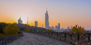 a-sunset-photo-taken-at-zhonghua-gate-of-the-city-wall-of-nanjing