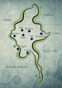 Map of Myanmar for Travelers