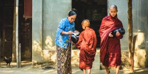monks-collecting-alms-in-the-street-of-yangon