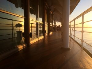 Cruise Boat on the Irrawaddy from Mandalay to Bagan in Myanmar