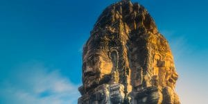sunset-view-of-bayon-temple-in-angkor-wat