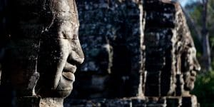 Bayon Temple's stone faces