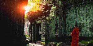 a-monk-inside-ta-prohm-temple